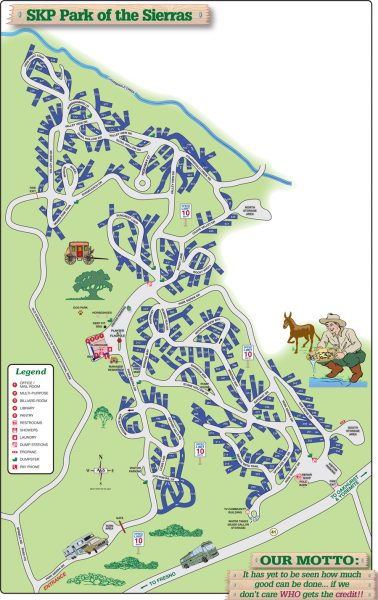 254 sites are tucked neatly within the natural surroundings of the Sierra Nevada foothills.