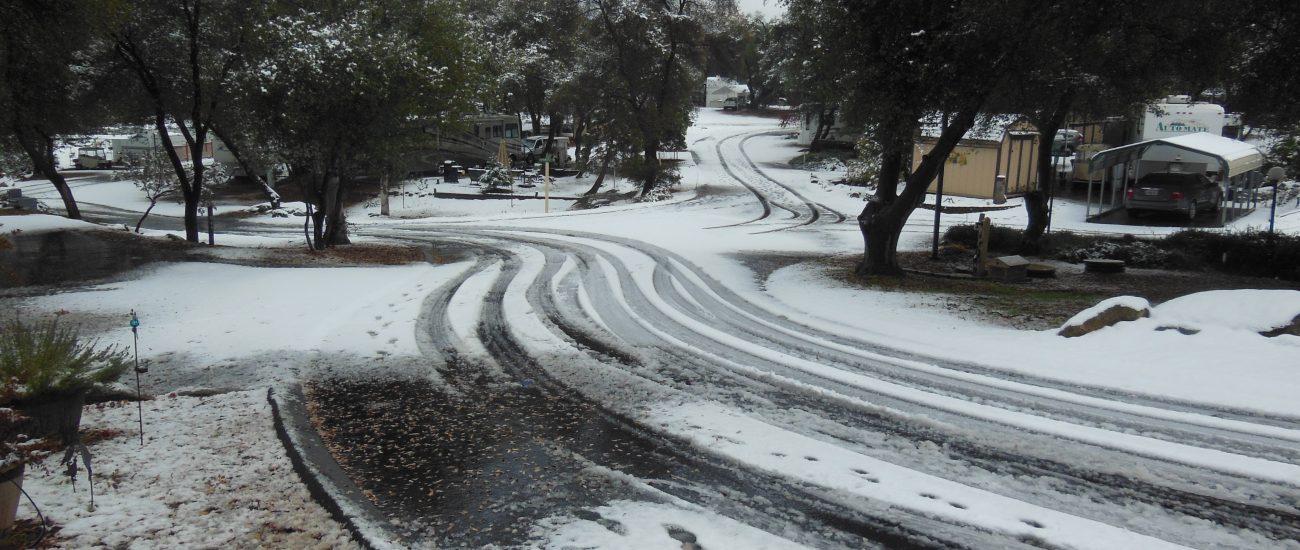 Sometimes it snows