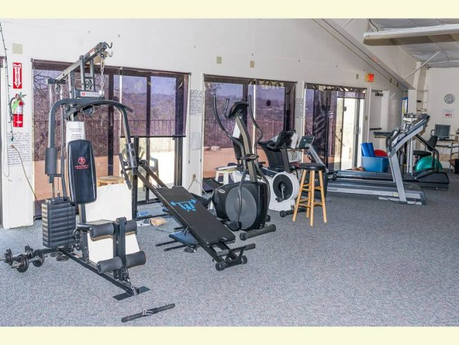 Exercise area up on our Mezzanine