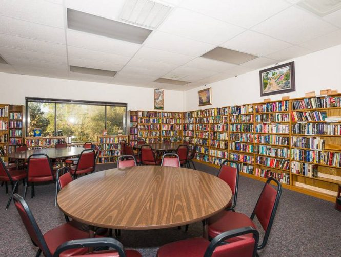 The Clubhouse library with a wide choice of titles old and new