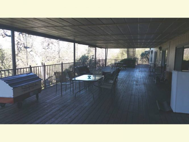 Our rear deck